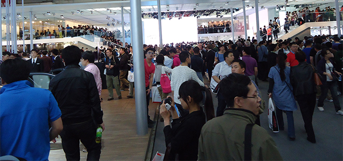 Show visitors on the floor at 2012 Auto China Motor Show