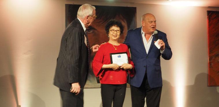 Bill Fox, Mrs. Ye and Patrick Tessier