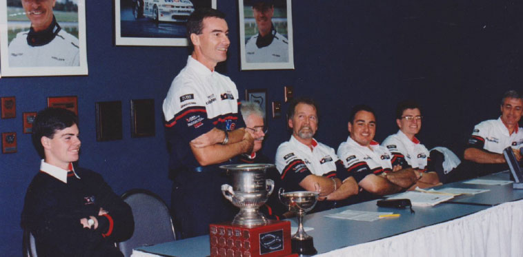 HRT Gold Medallists (L to R) Craig Lowndes, Tomas Mezera, Ron Harrop, Paul Weissel, Jeff Grech, Chris Dyer, Peter Brock